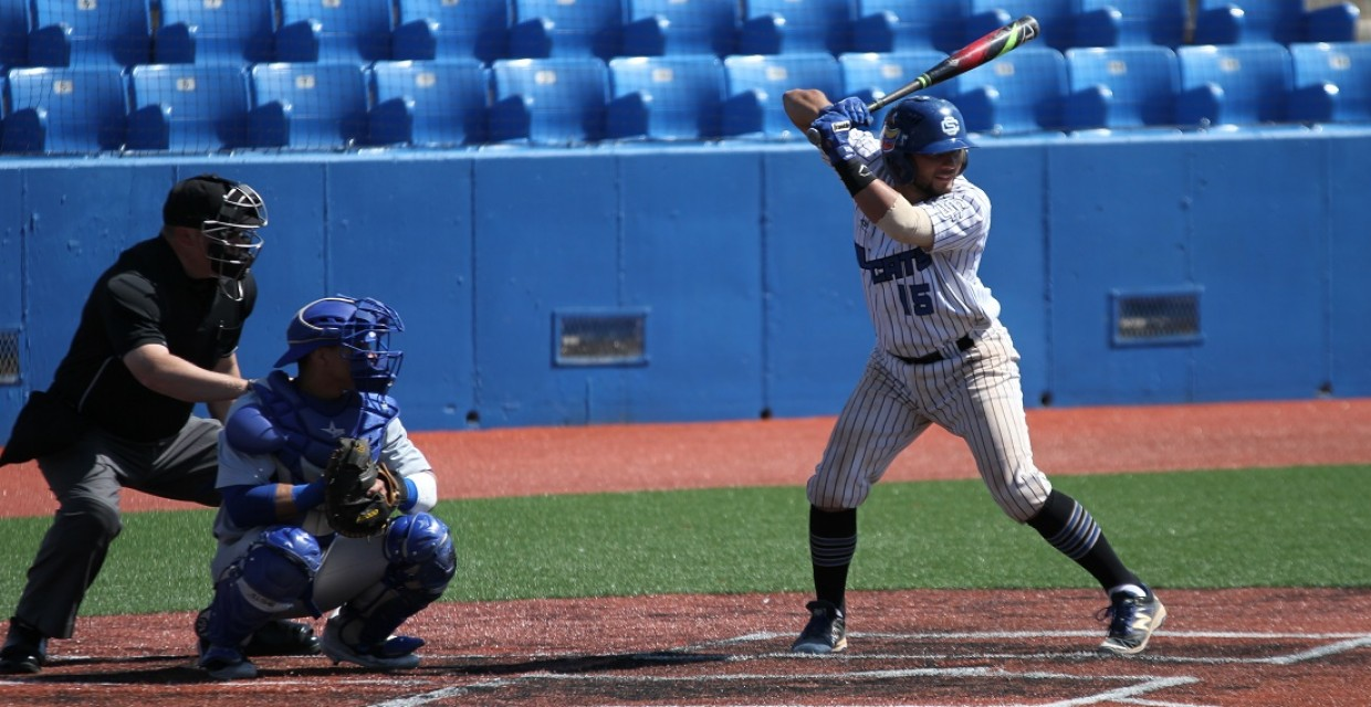 Franklin Rojas collected three hits in the Wildcats' victory Saturday. -- Photo courtesy of Evangel Sports Info.