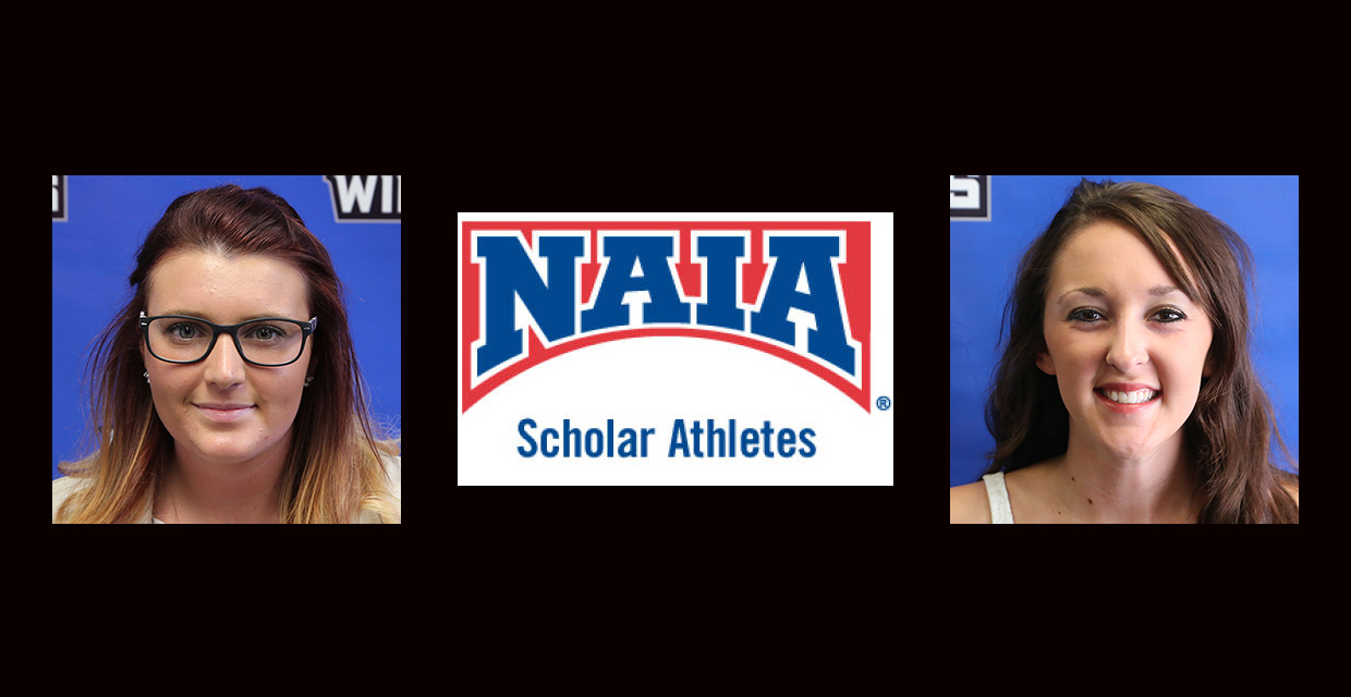 Stephanie Howard (left) and McKinsey Vinyard were two of 60 performers named scholar-athletes by the NAIA