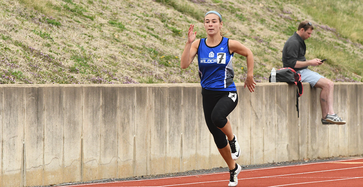 Paige Bray qualified for the NAIA Outdoor Championships in the 100 and 200-meter dashes Sunday