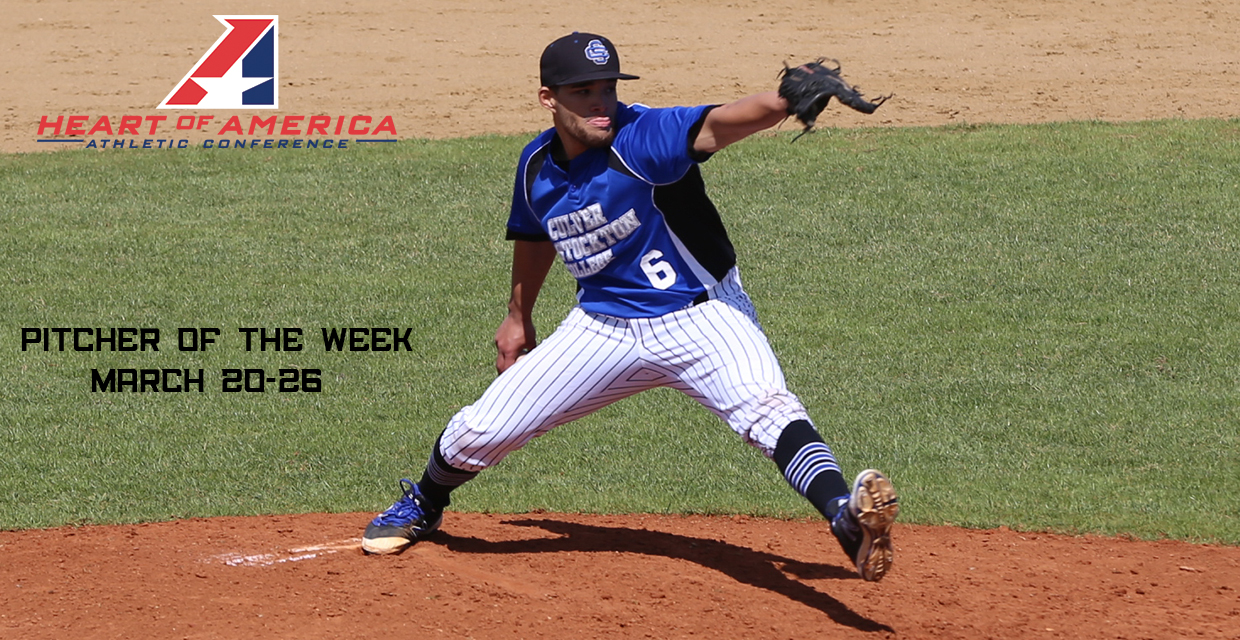 Luis Vilchez pitched a complete-game, four hitter against Clarke to earn Heart weekly honors