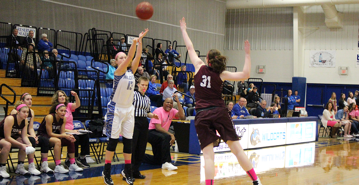 Terra Helm and the her Wildcat teammates struggled shooting the ball Saturday