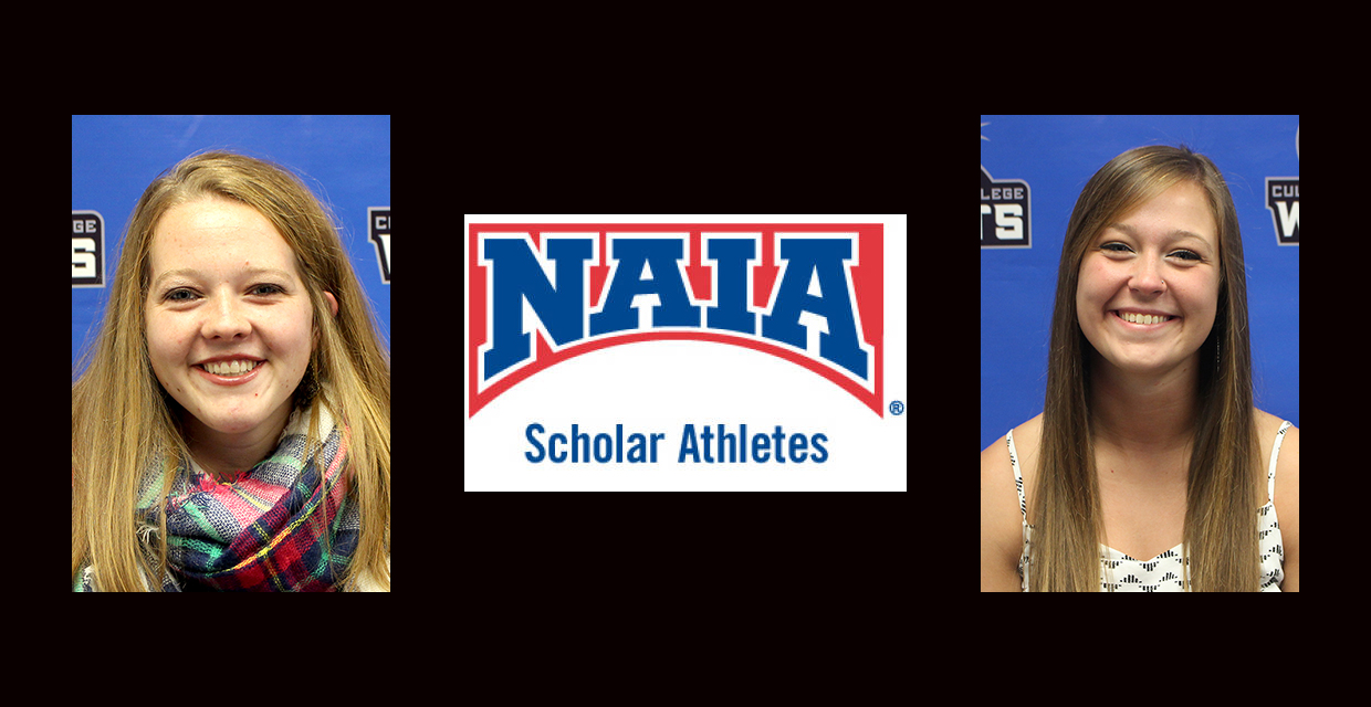 Breanne Begeman (left) and Terra Helm were named NAIA Scholar-Athletes for the second straight year